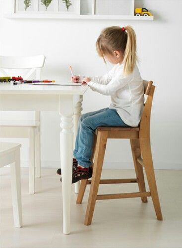 Ikea ingolf junior chair allows 5yr old to be at same level as adults at table very sturdy - Chaise ikea urban ...