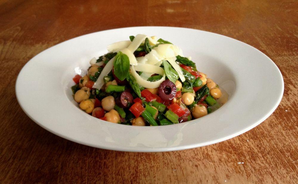 Salade de pois chiches & asperges au p'tit bonheur