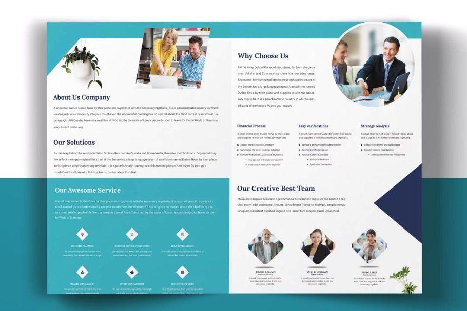 Corporate Bi Fold Brochure Bi Fold Brochure Creative Design Agency Brochure
