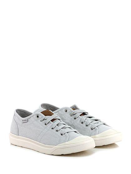 PALLADIUM - Sneakers - Uomo - Sneaker in tessuto effetto vintage con suola in gomma. Tacco 30. - ICE - € 89.00