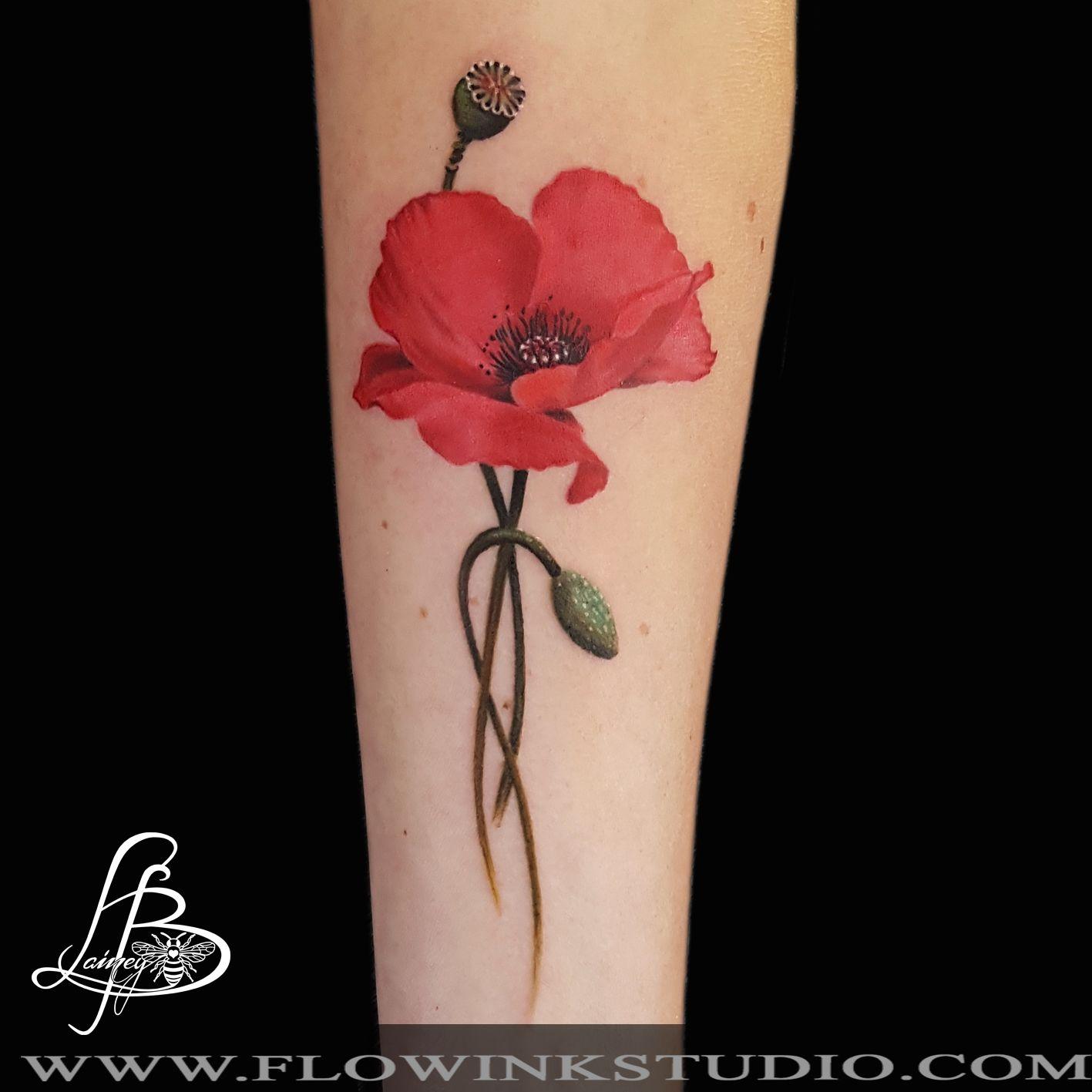 Tattoo Artist Lainy Bee Nijmegen Coquelicot Tatouage Tatouage
