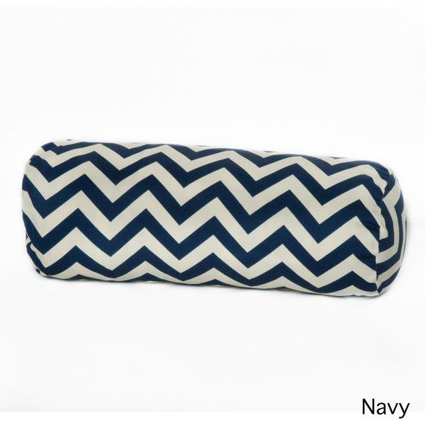 Chateau Chevron Polyester Outdoor Bolster Pillow Blue (Fabric) (47 CAD) ❤ liked on Polyvore featuring home, outdoors and blue