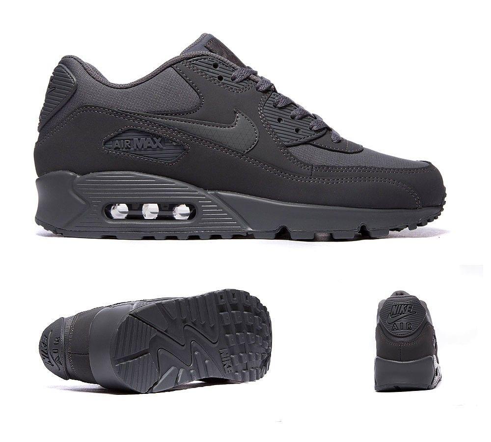 brand new 5c96a f5b62 Nike Air Max 90 Essential Trainer | Dark Grey | Footasylum ...