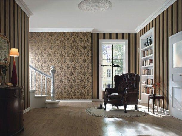 Rasch Trianon 513080 Vliestapete Ornamente Braun