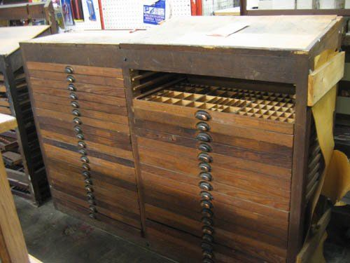 City Liquidators Is Selling A Vintage Typeset Cabinet For Only