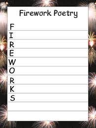 Image result for firework poem displays firework poems for Firework shape poems template