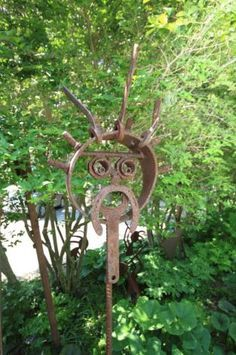 Garden Yard Art Ideas horseshoe butterfly for your gardenthese are the best yard art ideas Junk Art Yard Art Ideas