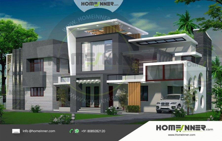 Chhattisgarh 40 Lakh Contemporary Floor Plans For New Homes House Design Luxury Floor Plans Architectural House Plans