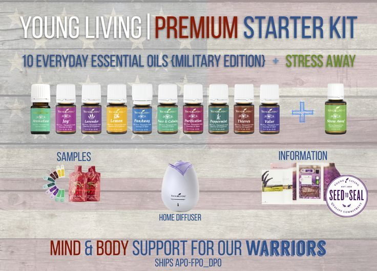 Young Living Premium Starter Kit Military Edition  AromaEase Joy Lavender