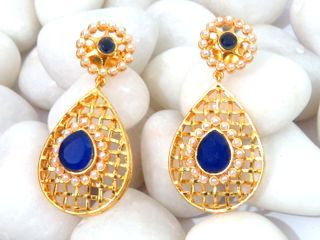 il etsy pairs wholesale jewelry stud set blue lot market earrings earring