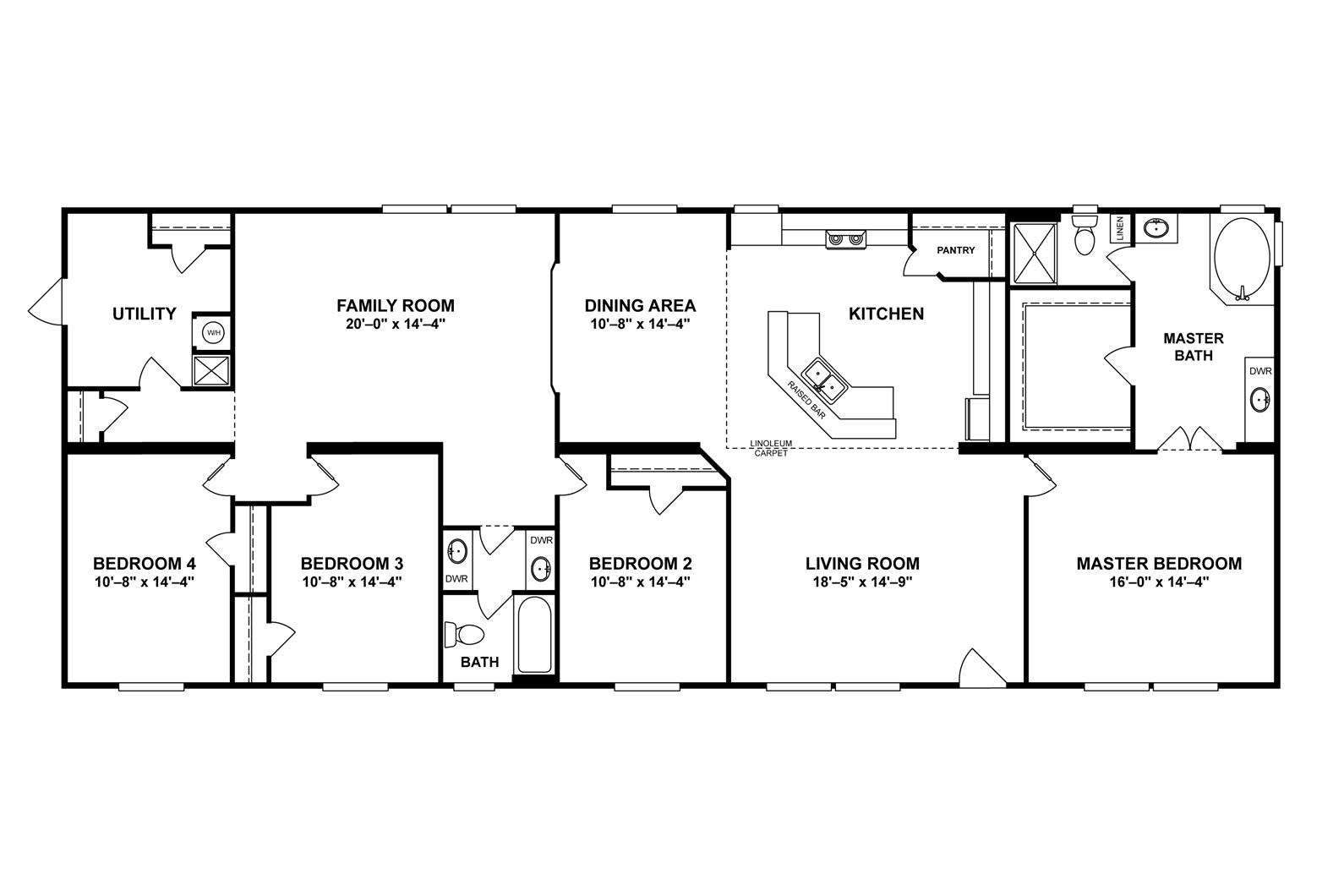 Interactive Floor Plan Floor Plans Oakwood Homes Mobile Home Floor Plans