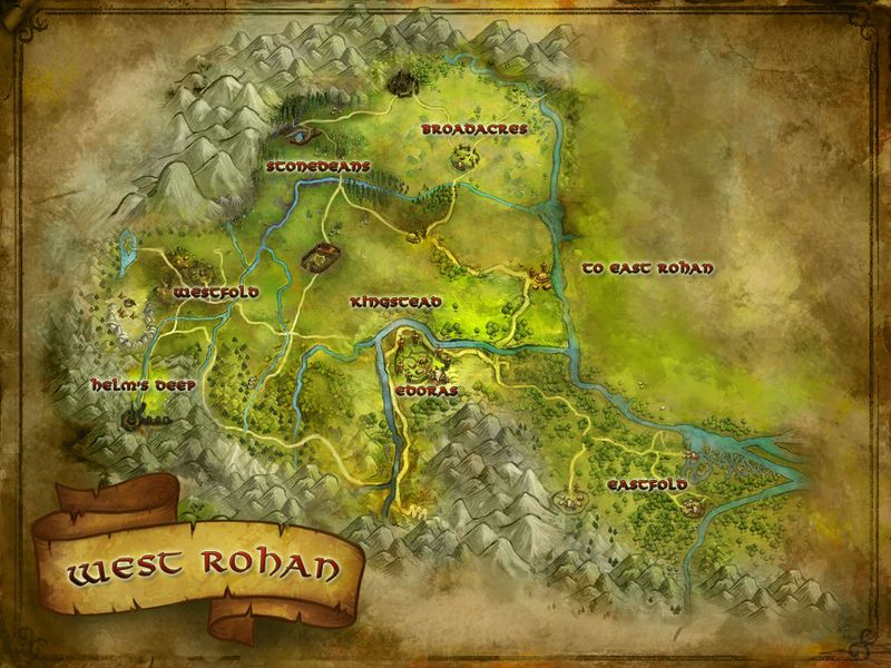 Did Maps In Middle Earth Have West: Lord Of The Rings Online