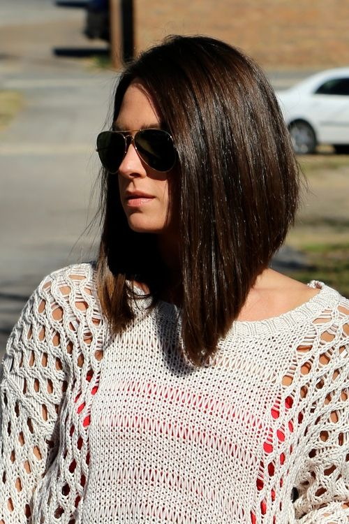 Long Angled Bob #LongBob | Angled bob hairstyles, Bob hairstyles, Inverted long bob