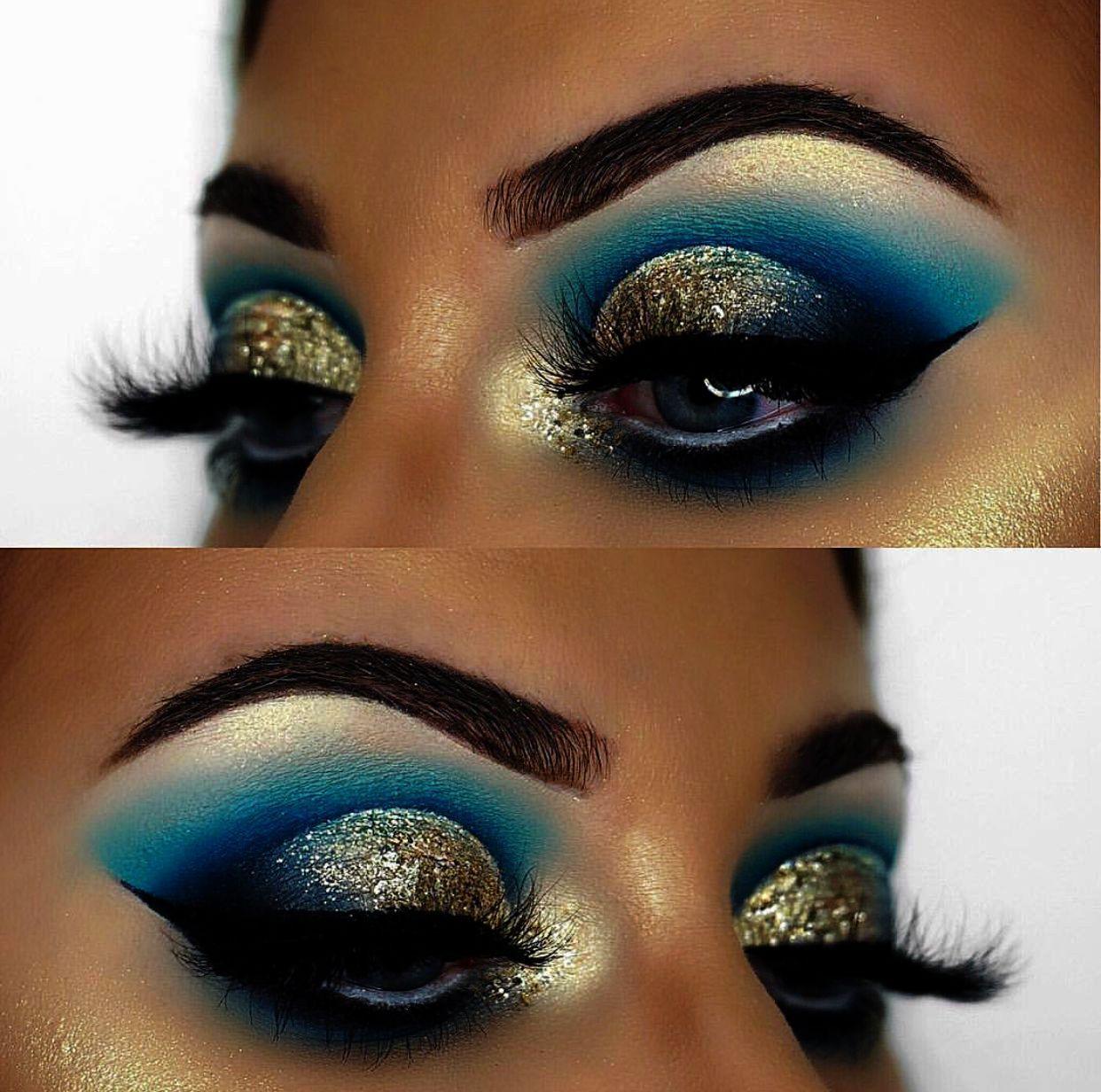Rhinestone Eye Makeup Ideas; Eye Makeup For Older Women's