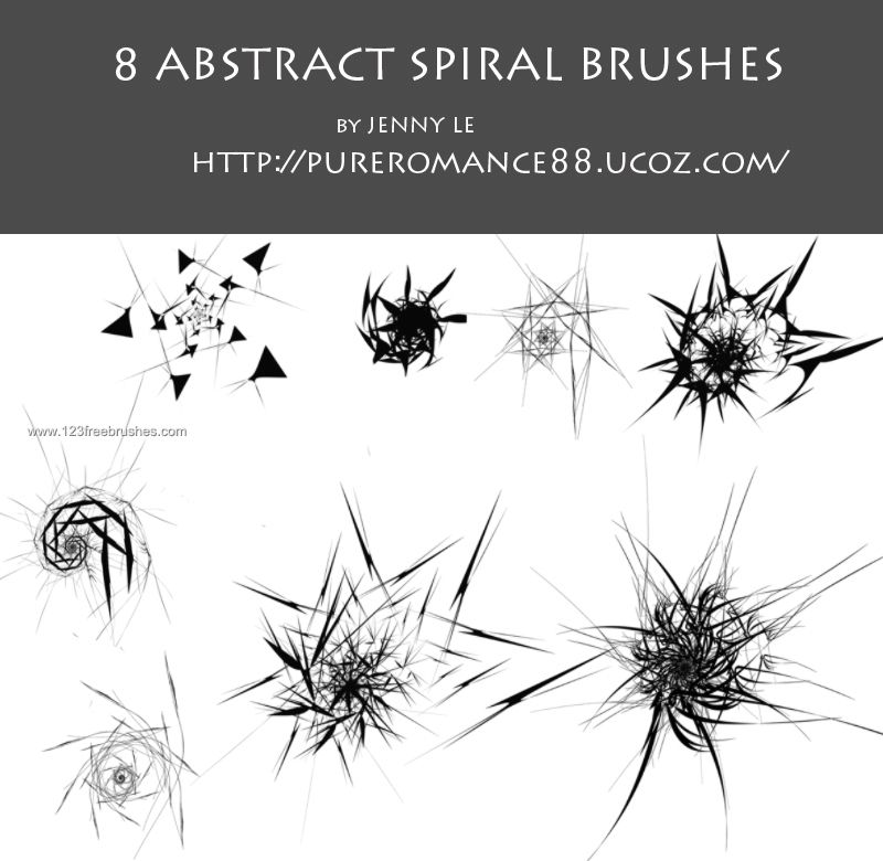 Abstract Spiral  Photoshop Brushes    Spiral