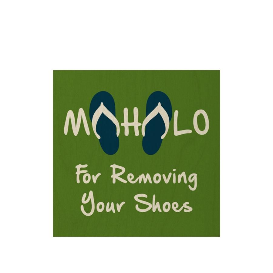 Mahalo for Removing Your Shoes 3x5.5 COR