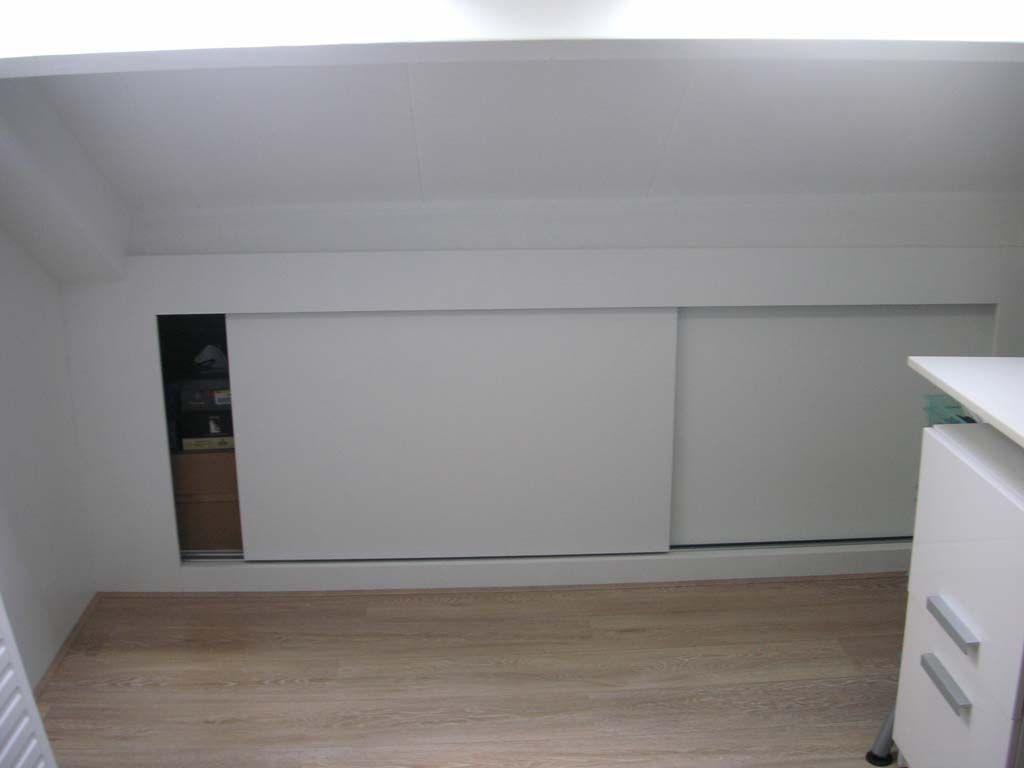 mooie schuifkast onder schuin dak   Slaapkamer zolder   Pinterest   Zolder
