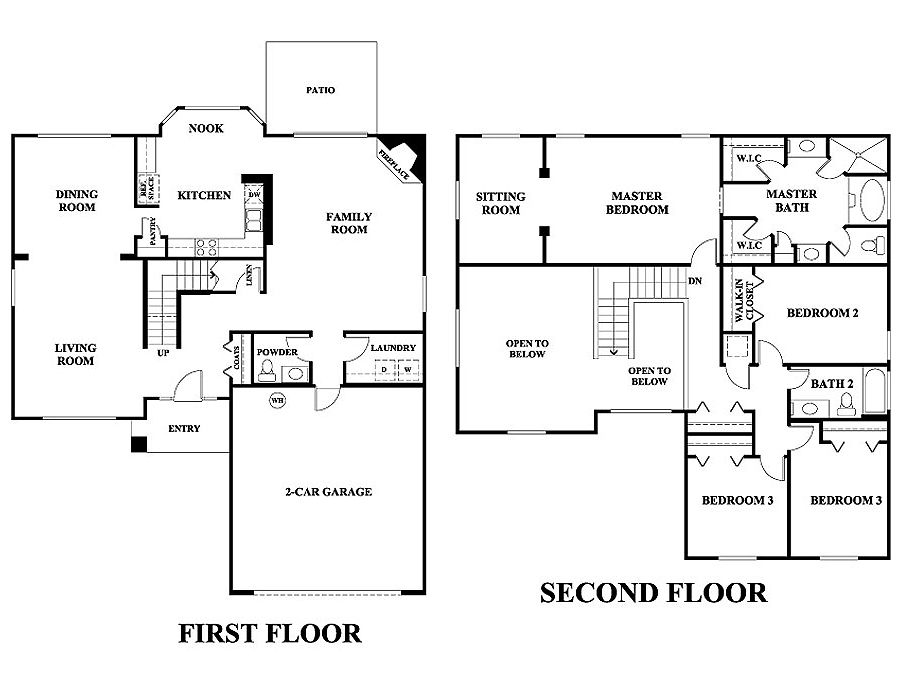 image result for five bedroom floor plan two storey - 2 Story House Plans