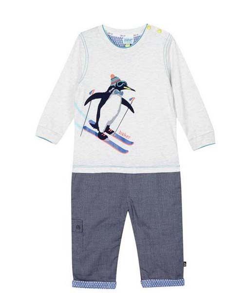 ca4fbb86afa377 Baby Boys Romper Onesie Outfit Penguin Designer Gift Newborn