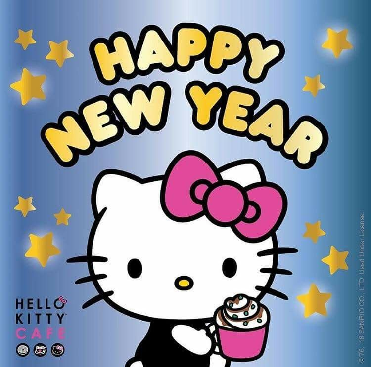 Hello Kitty Cafe Happy New Year Hello Kitty Sanrio Hello