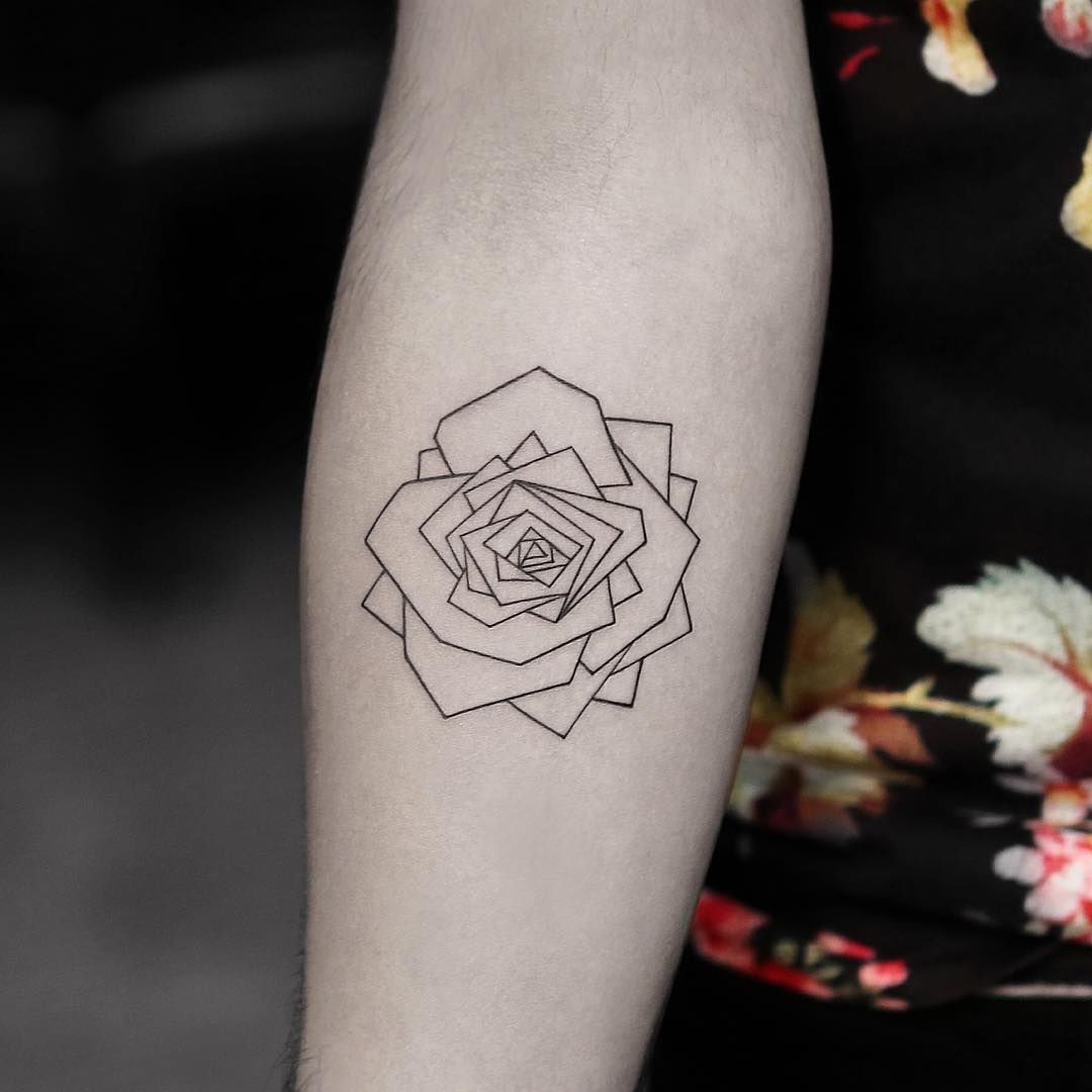 133e37c1a 50+ Tiny Rose Tattoos to Feed Your Beauty and the Beast Obsession ...