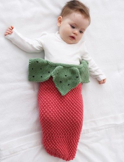 FREE - Strawberry Cocoon - Patterns | Yarnspirations | Knit Baby ...