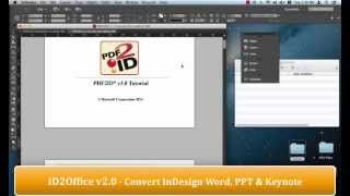 Plugin - ID2Office v2 0 converting InDesign to Keynote, PowerPoint