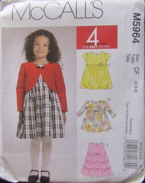 Childs/' Jacket Hat Dress Pattern 2-5 Butterick 4592 OOP