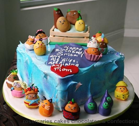Superb Aww A Small Potatoes Birthday Cake Cute Childrens Birthday Personalised Birthday Cards Veneteletsinfo