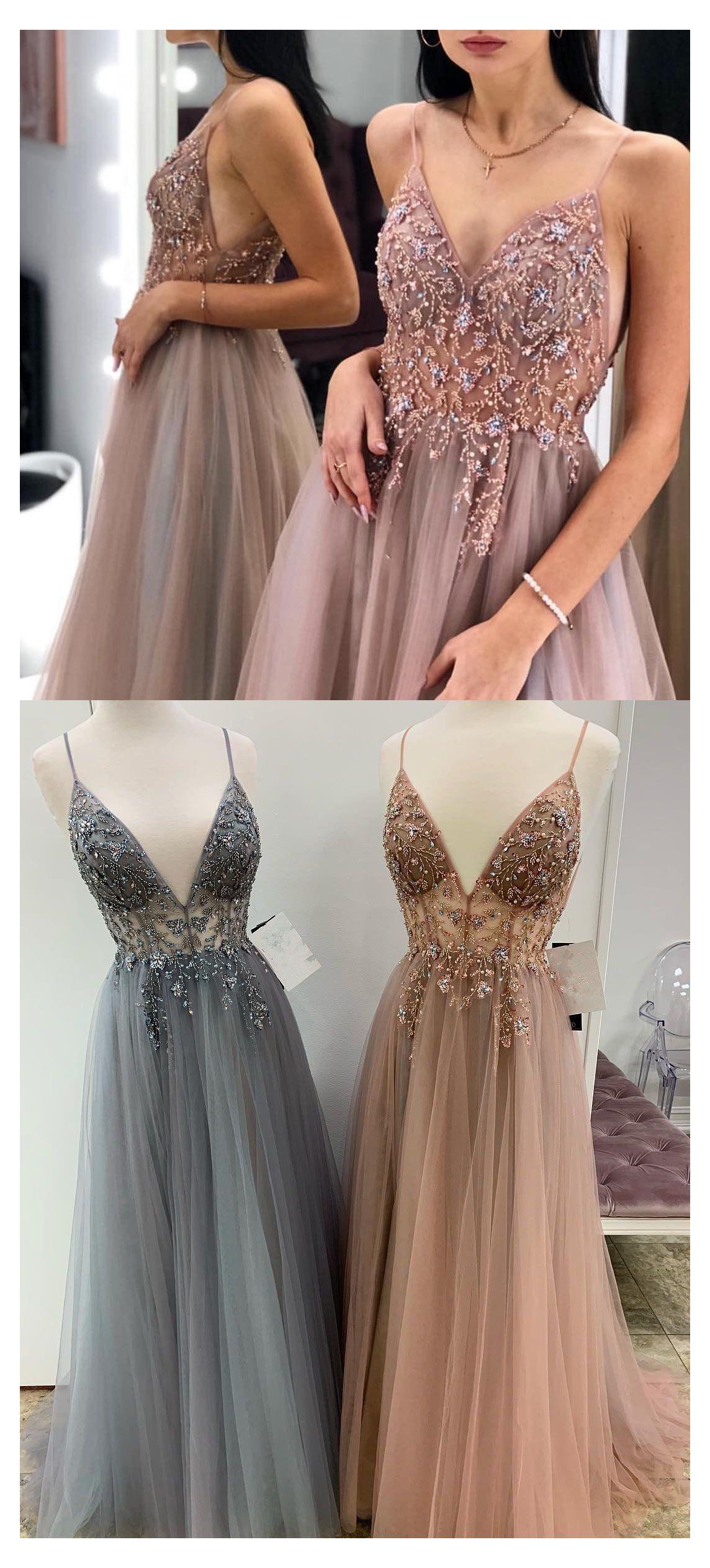 rose gold formal dress long