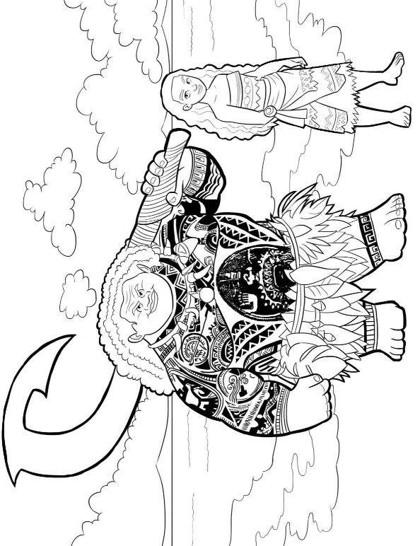 coloring page moana moana disney princess coloring