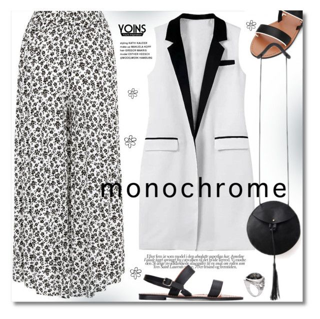 """""""Make it Monochrome"""" by svijetlana ❤ liked on Polyvore featuring monochrome, yoins and yoinscollectio"""
