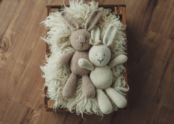 Pattern Briar Bunny Adorable Knitting Handknit Rabbit Wool Toys