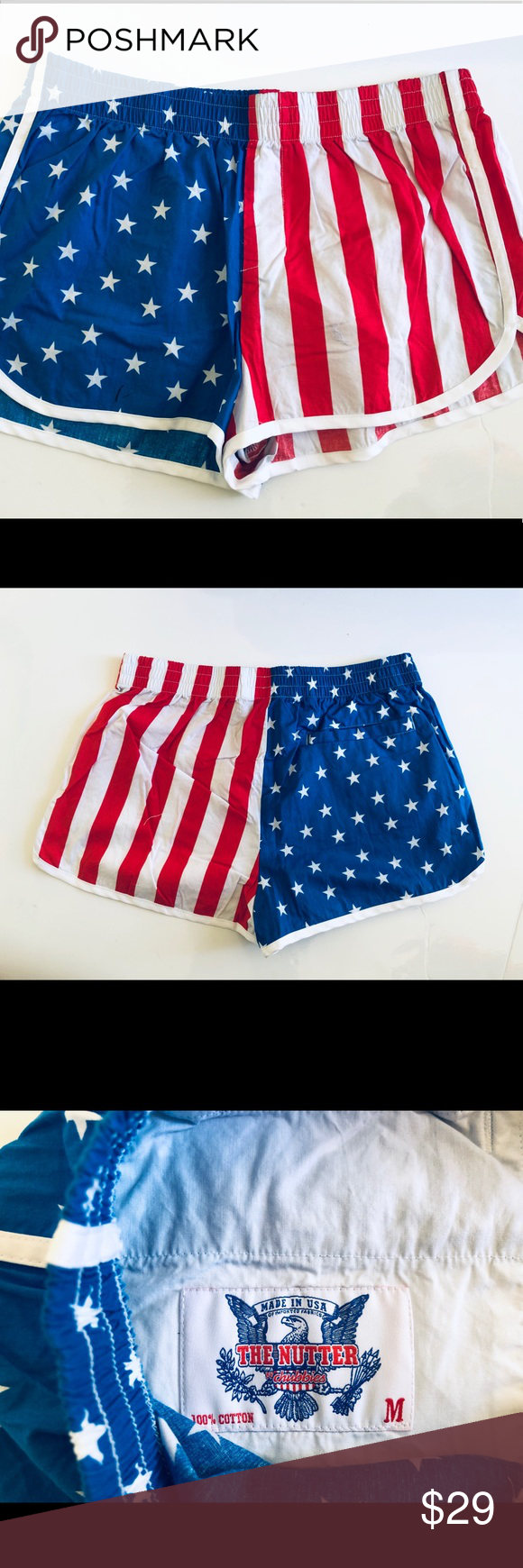 Chubbies Women S American Flag Shorts In 2020 American Flag Shorts Chubbies Shorts Swimsuit Cover