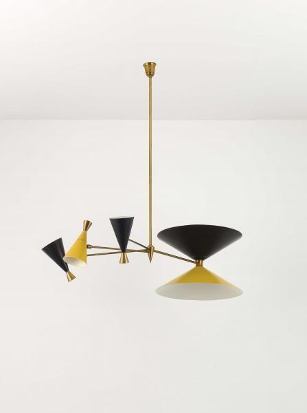 MANIFATTURA ITALIANA - AN ITALIAN CEILING LAMP - - Lampada a sospensione anni '50. [...], Design & Italian Style (Genova) à Wannenes Art Auctions