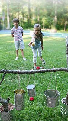 Sencillo juego y fácil de hacer. | Juegos para niños al aire ...