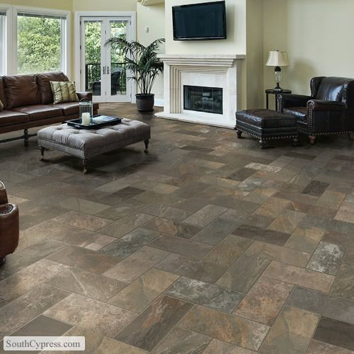 W Slate Indigo Featured On The Modern Slate Page From South Cypress Livingroom Flooring Basement Remodeling Living Room Remodel Small Basement Remodeling