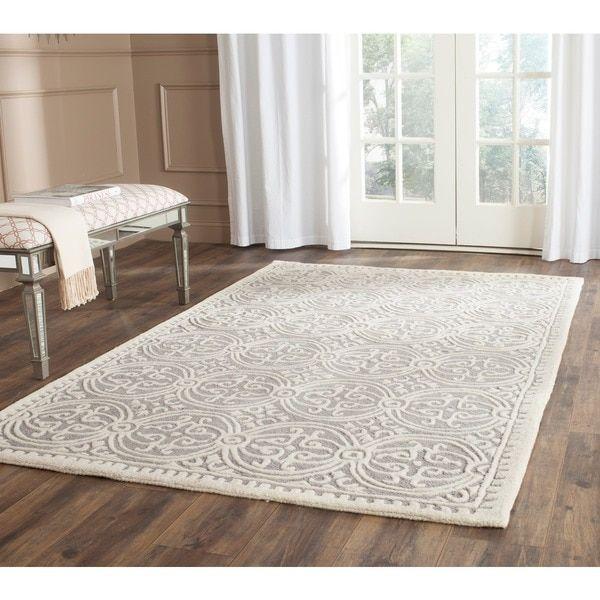 safavieh handmade cambridge moroccan silver ivory rug 10u0027 x