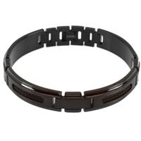 Black Ion Plated Cable Bracelet