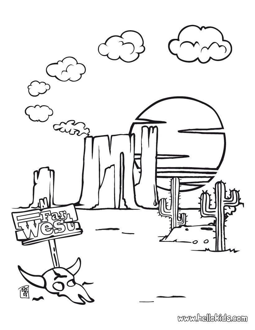 Free printable coloring pages western -