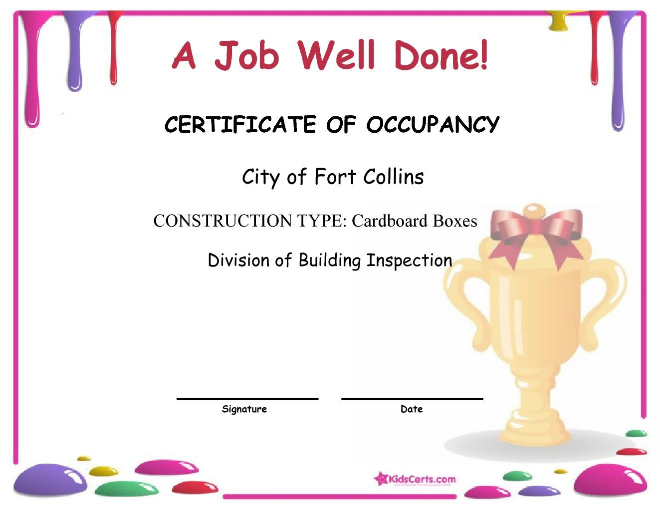 A job well done division of building inspection arts