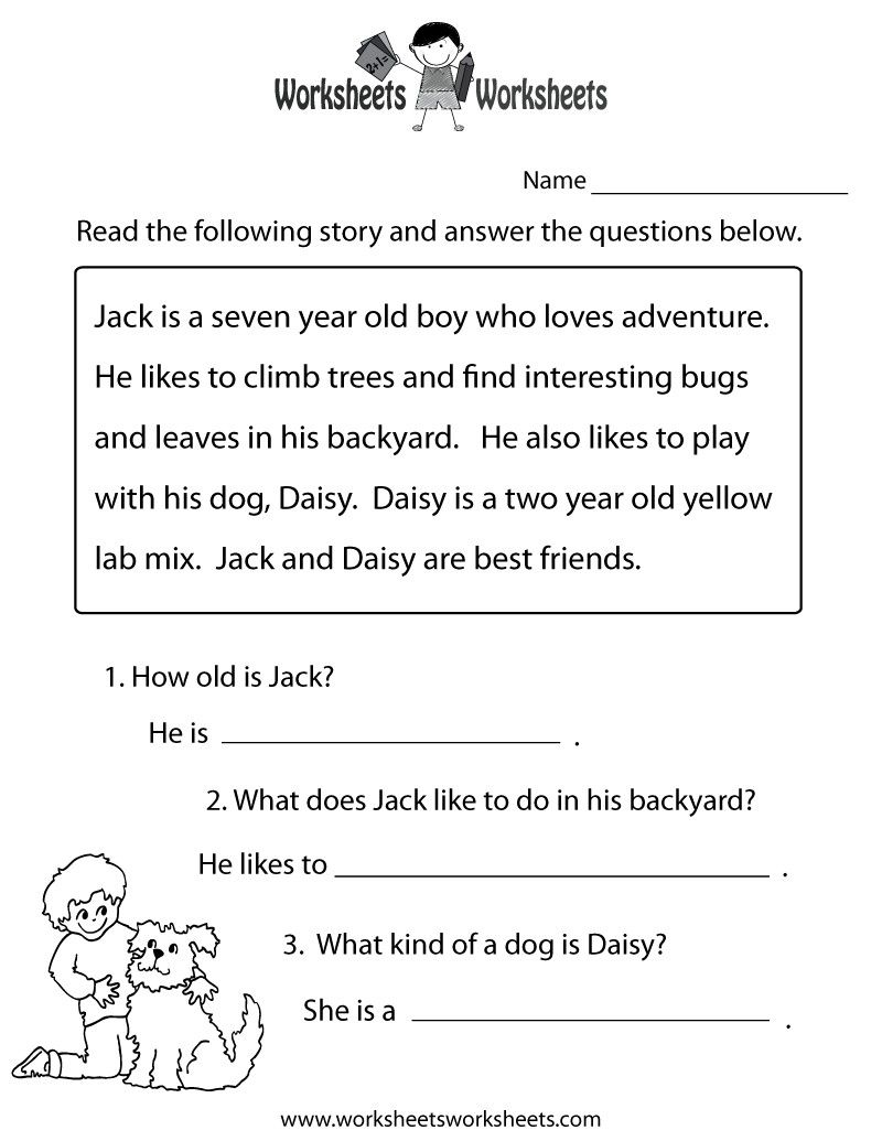 3 Worksheet Reading Comprehension Worksheets Second Grade 2 Childrens Storie Reading Comprehension Practice Reading Comprehension Worksheets Reading Worksheets