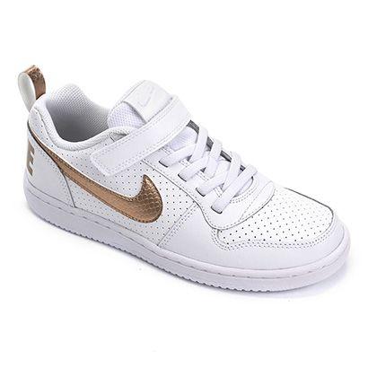 Tênis Juvenil Nike Court Borough Low EP Velcro PSV Feminino