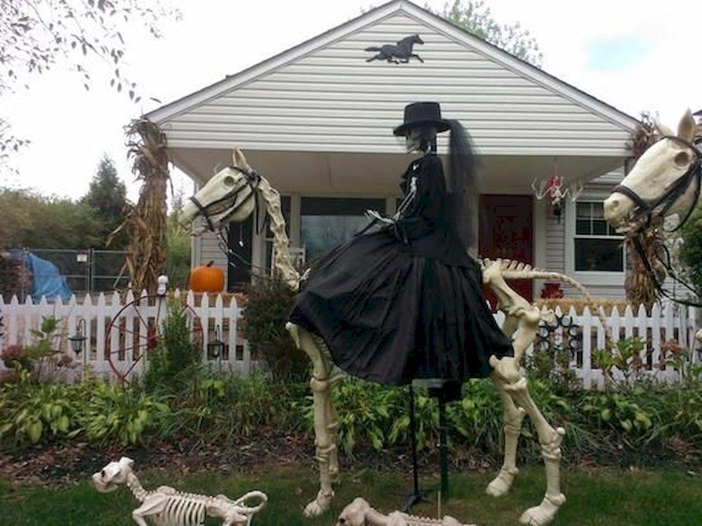 80 + CREEPY OUTDOOR HALLOWEEN DECORATION IDEAS Gardening - front yard halloween decorations