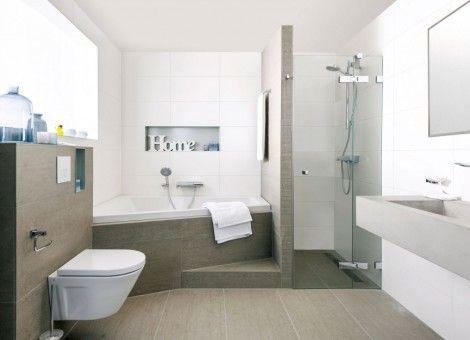Badkamer Beton Interieur : Een houten vloer in de badkamer interieur bathroom