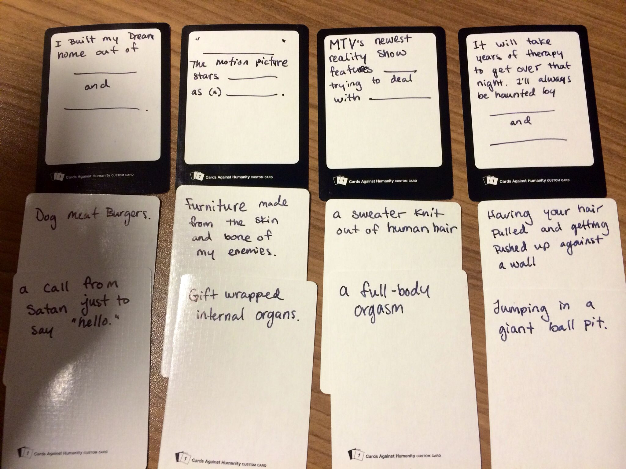 cards against humanity make your own ideas