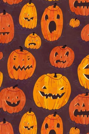 Download Free Halloween Pumpkins Pattern Iphone Wallpaper Mobile Wallpaper Contributed By Carnel Pumpkin Wallpaper Halloween Wallpaper Iphone Wallpaper Vintage