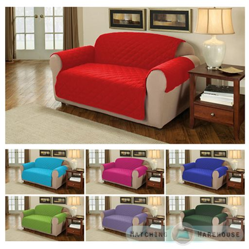 Furniture Protector Quilted Cotton Twill Sofa Armchair