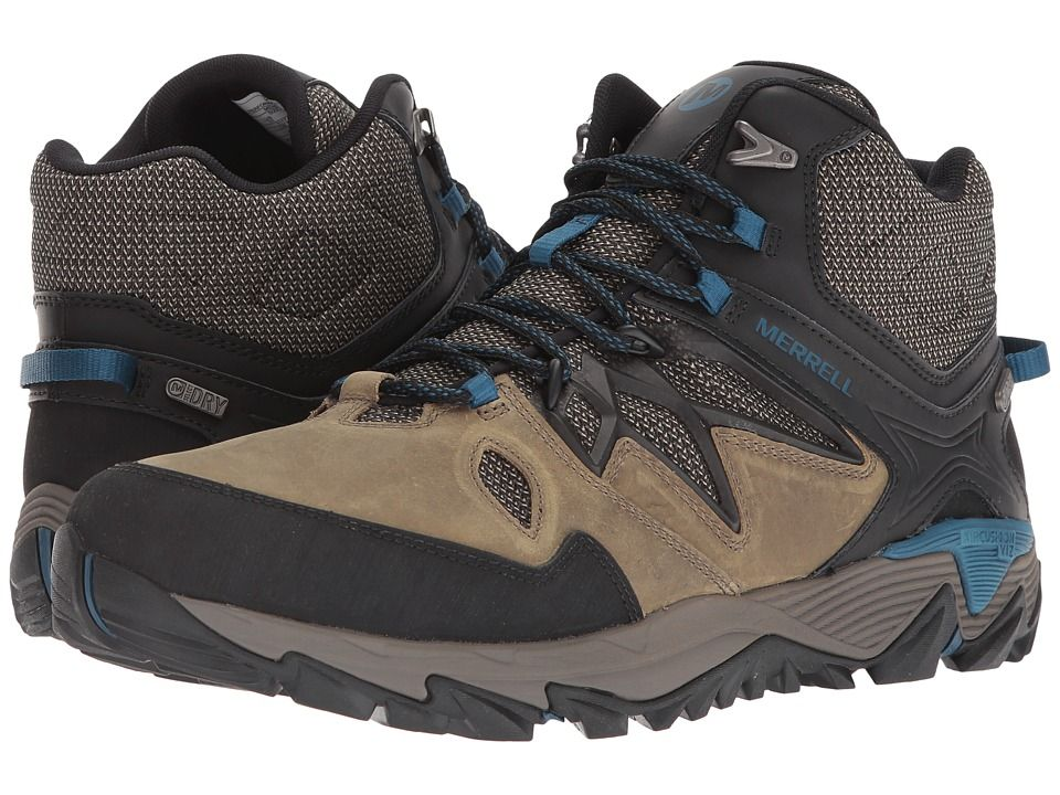 Merrell All Out Blaze 2 Mid Waterproof Men s Shoes Stucco  573fdf1bca