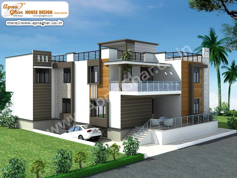 5 Bedrooms Duplex 2 Floors House Area 360m2 15m X 24m